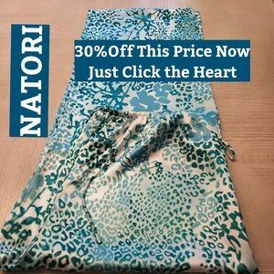 NATORI, Turquoise PJ Pants Sz Med